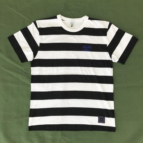 M&M - BORDER S/S T-SHIRT (BLACK/WHITE)
