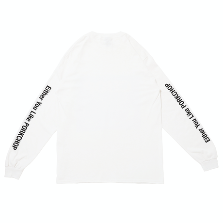 PORKCHOP - CHOP L/S TEE (WHITE)