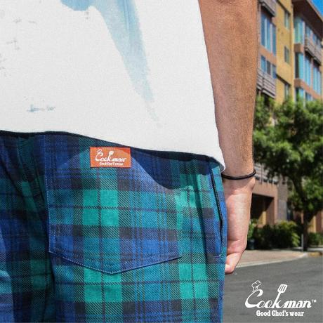 COOKMAN - Chef Pants 「Black Watch Check」