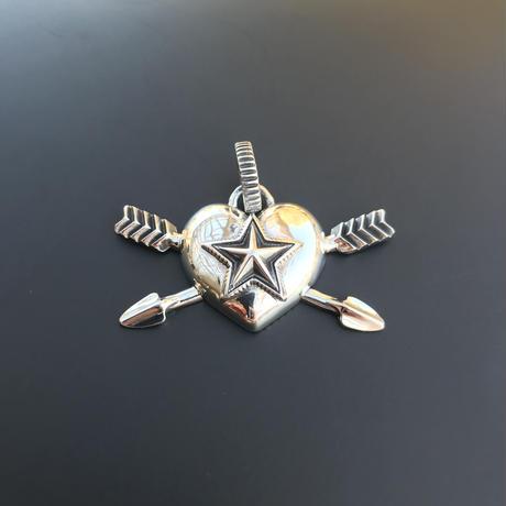 CODY SANDERSON - Pendant Heart & Sheriff Star Double Arrow