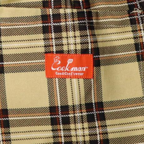 COOKMAN - Chef Pants Short Tartan Beige