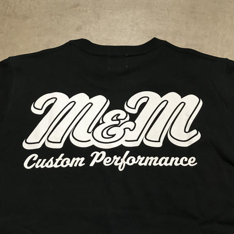 M&M - PRINT S/S TEE MT-022 (BLACK)