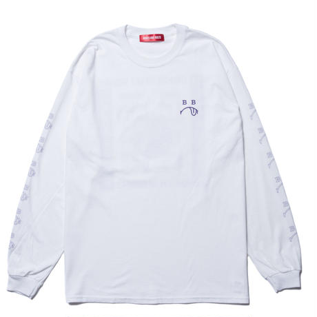 BONES AND BOLTS - L/S TEE (BERO) ホワイト