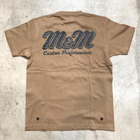 M&M - PRINT S/S TEE MT-022 (D.CAMEL)