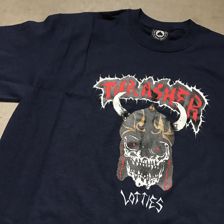 Thrasher × Lottie's T-Shirt - Navy