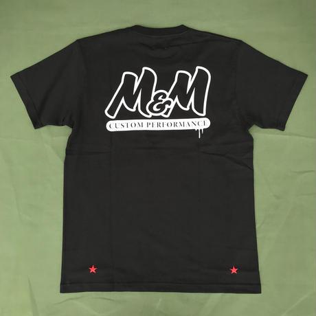 M&M - PRINT S/S T-SHIRT - 21-MT-013 (BLACK)
