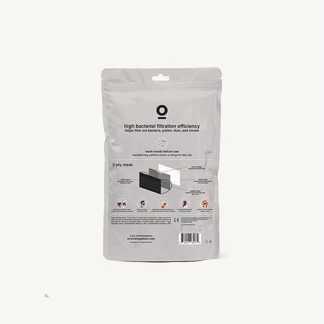 evolvetogether / BLACK(7 face masks pack)