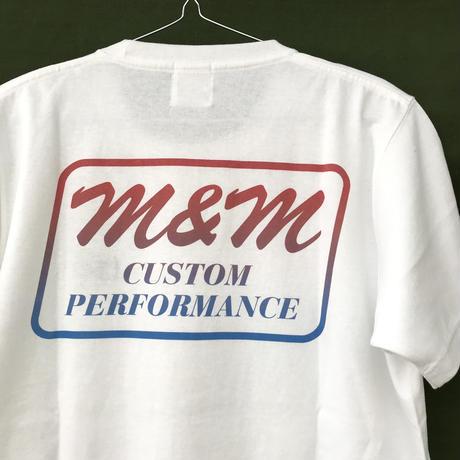 M&M - PRINT S/S TEE 20-MT-TD02 (WHITE)