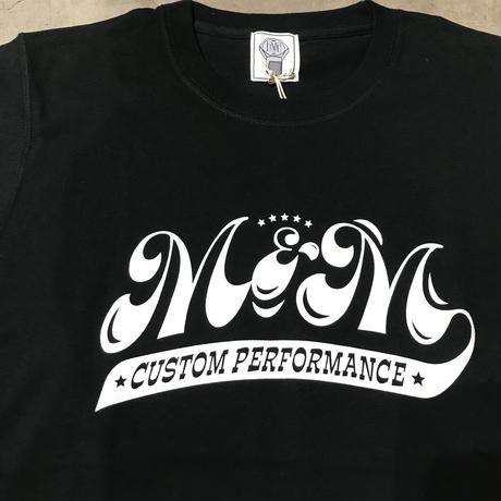 M&M - PRINT S/S TEE MT-021 (BLACK)