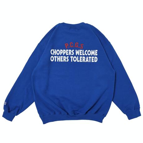 PORKCHOP - CHOPPERS WELCOME SWEAT (BLUE)