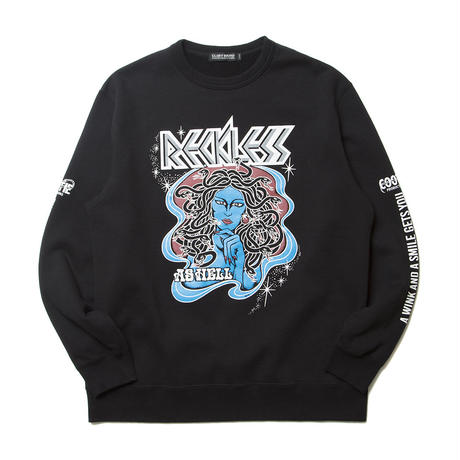 Print Crewneck L/S Sweatshirt (RECKLESS AS HELL)