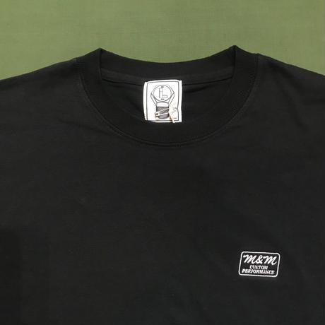 M&M - PRINT L/S TEE 21-MT-002 (BLACK)
