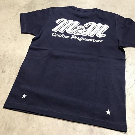 M&M - PRINT S/S TEE MT-022 (NAVY)