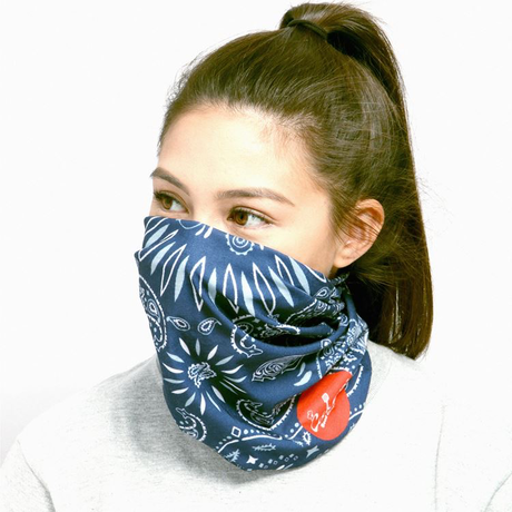 COOKMAN - Chef's Scarf 「Paisley」 Navy