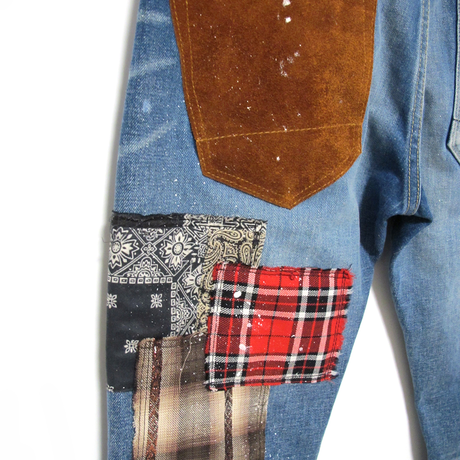 "OVERDESIGHN - NEW SKINNY ""PATCHWORK""(ブルー)"
