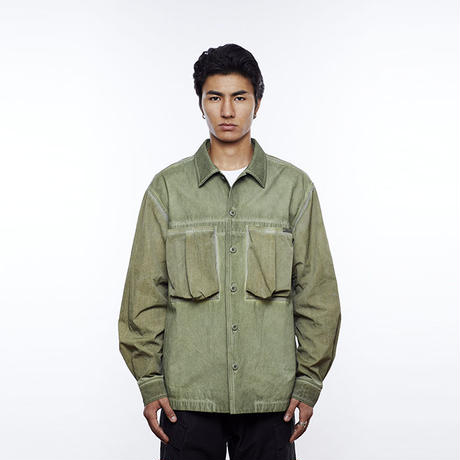 LIBERAIDERS - PSYCHEDELIC BDU SHIRT (OLIVE)