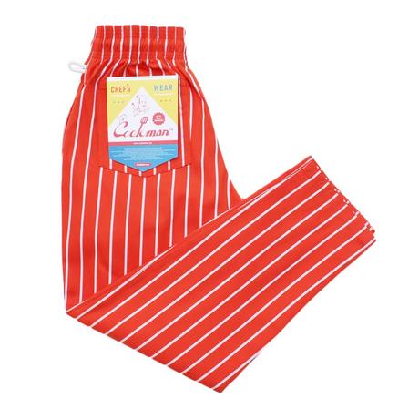 COOKMAN - Chef Pants 「ストライプ」 オレンジ