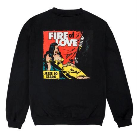 Jesse Jo Stark - fire of love スウェット (ブラック)