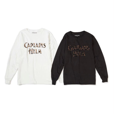 CAPTAINS HELM - LEOPARD LOGO L/S TEE