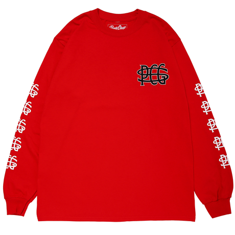 PORKCHOP - WING PORK L/S TEE/RED