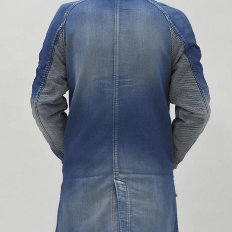 BLUE SAKURA - KNIT DENIM SHOP COAT