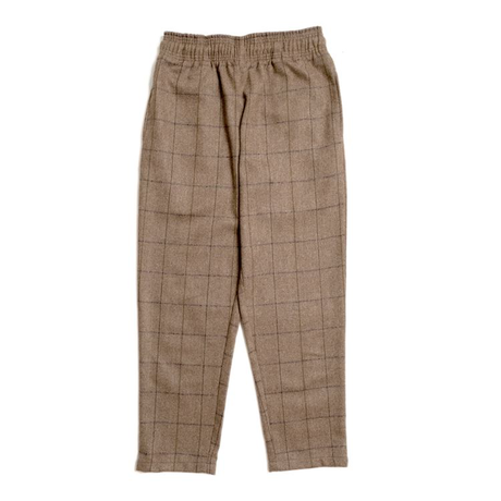 COOKMAN - Chef Pants 「Wool Mix Check」 Brown