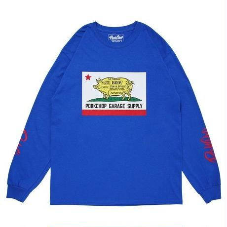 PORK CALIF L/S TEE/BLUE