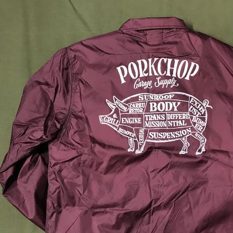 PORKCHOP - BOA COACH JACKET (MAROON)