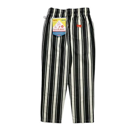 COOKMAN - Chef Pants Awning Stripe Black