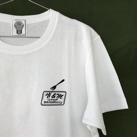 M&M - PRINT S/S TEE 20-MT-TD01 (WHITE)