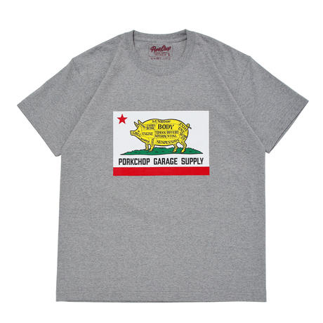 PORKCHOP - PORK CALIF TEE (グレー)