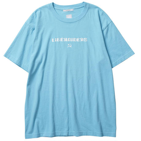 LIBERAIDERS - HAMMER AND SICKLE LOGO TEE (サックス)