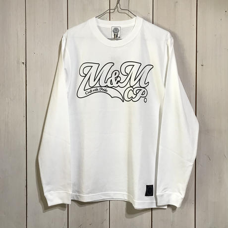 M&M - PRINT L/S TEE 20MT-024 (WHITE)