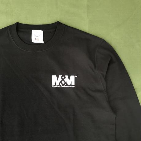 M&M - PRINT L/S TEE 21-MT-005 (BLACK)