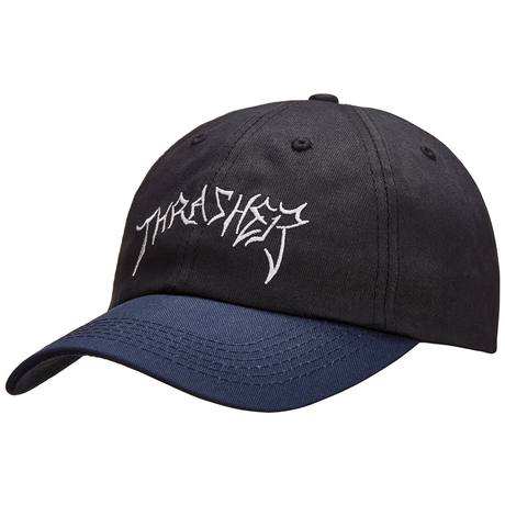 Thrasher × Lotties Old Timer Hat (BLK/NAVY)