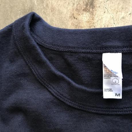 Made in USA - 8.5oz ガーメントダイTEE  (ネイビー)