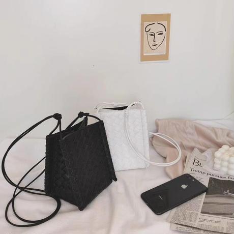 【LADIES】BAG 編み込みスクエアバッグ