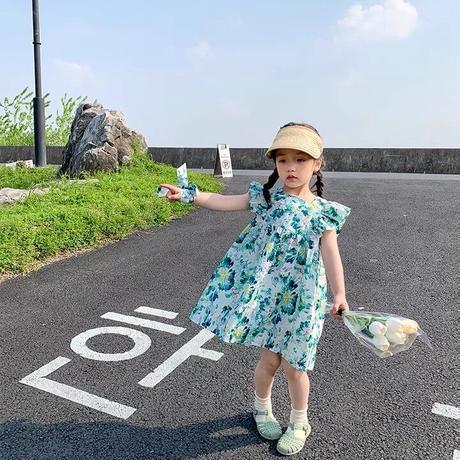 【80-150cm】DRESS バックリボン フリルワンピース