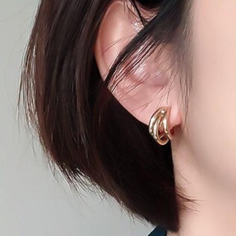 【JEWELRY】EARRINGS 3連フープピアス & イヤリング/S925 & K14ゴールドコーティング