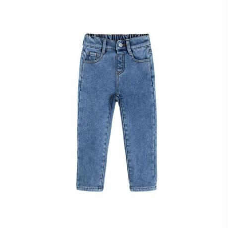 【80-150cm】JEANS 裏起毛テーパードジーンズ