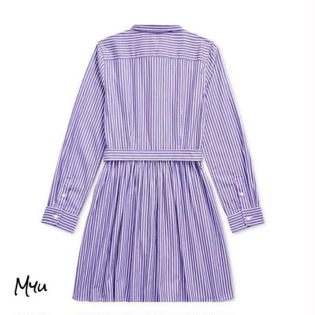受注発注【130〜160cm】Polo Ralph Lauren Striped cotton shirtdress