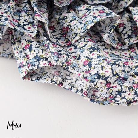 【66-90cm】Floral Frill Baby Rompers 花柄フリルベビーロンパース