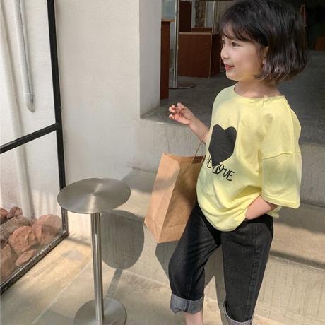 【80-150cm】TOPS ハートTシャツ