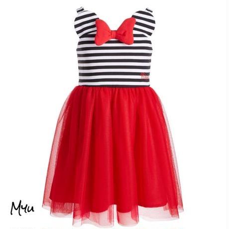 受注発注【95〜130cm】Minnie me striped dress
