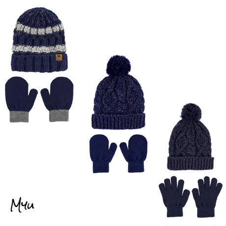 受注発注【Baby〜Kids】carter's 2-Piece glitter knit hat&mitten(glove)set