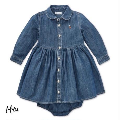 受注発注【50〜90cm】Polo Ralph Lauren Denim cotton shirtdres