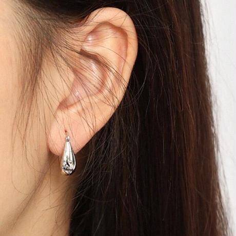 【JEWELRY】EARRINGS ドロップピアス/S925 & ロジウムコーティング