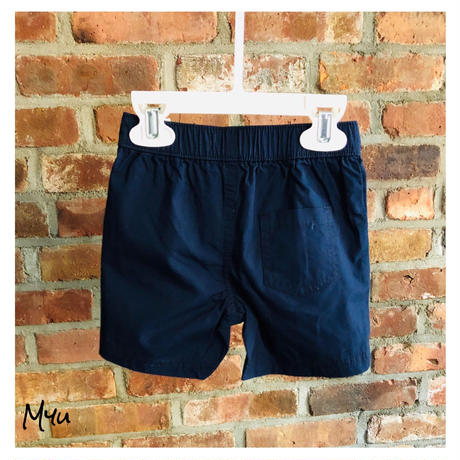 即納🇺🇸【80〜90cm】Navy simple short pants