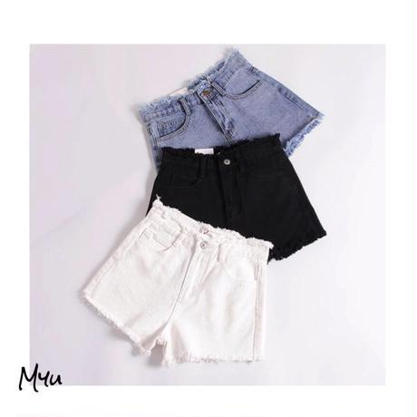受注発注【Ladies】Denim short pants