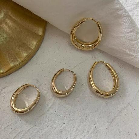 【JEWELRY】EARRINGS ドロップピアス小 2.5cm 14Kゴールドコーティング